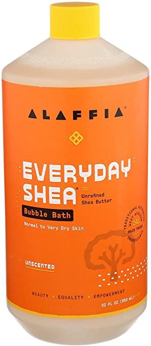 Alaffia Everyday Shea Bubble Bath Unscented