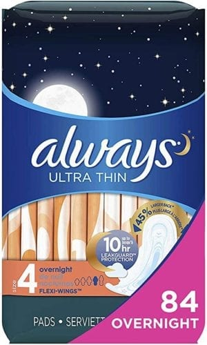 Always Ultra Thin Feminine Pads with Wings for Women