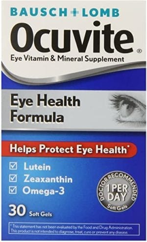 Bausch + Lomb Ocuvite Eye Vitamin and Mineral Supplement Eye Health Formula with Lutein